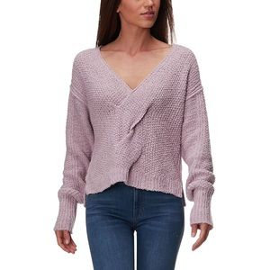 Free People Coco Lavender V Neck Sweater